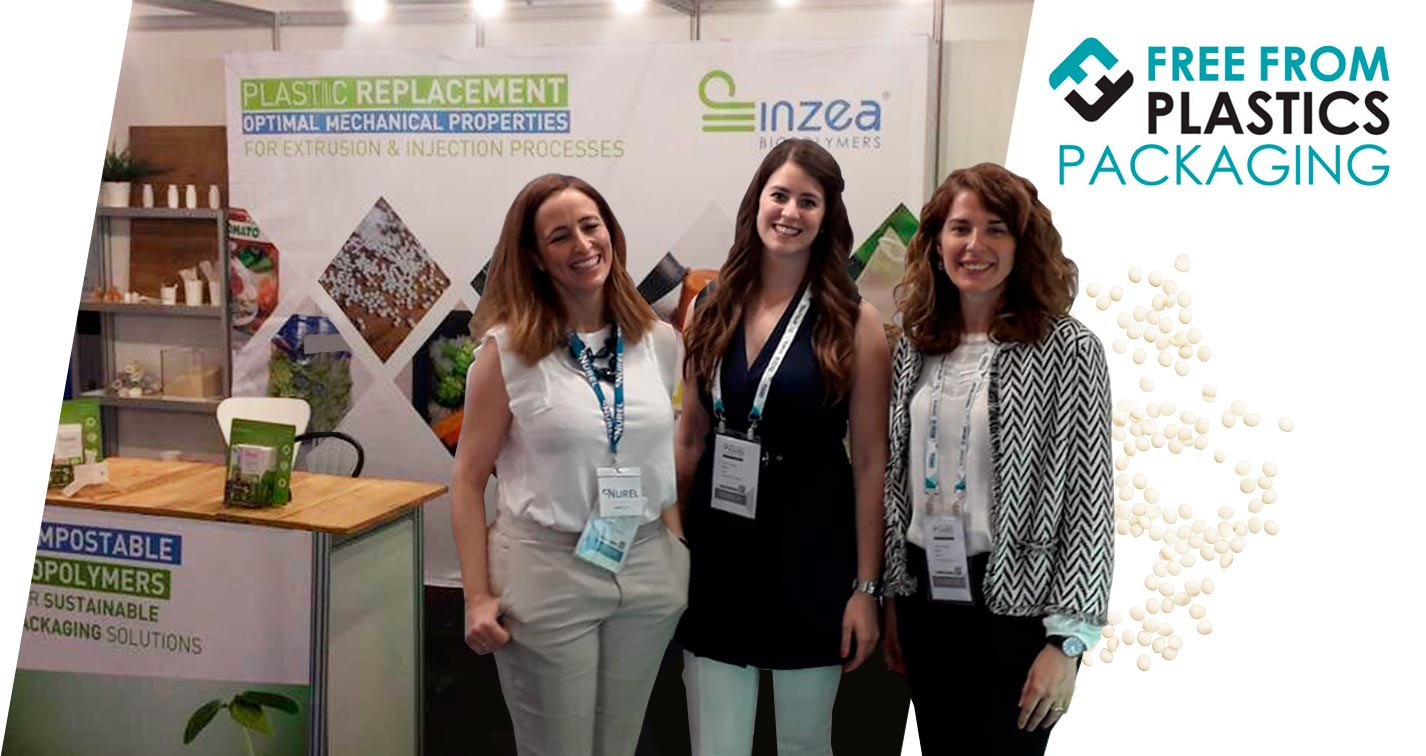 NUREL Biopolymers Free From Plastics Packaging 2019 INZEA Booth