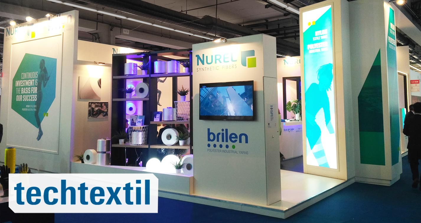 NUREL Techtextil Frankfurt 2019 Booth Nylon 6 & 66 Yarns